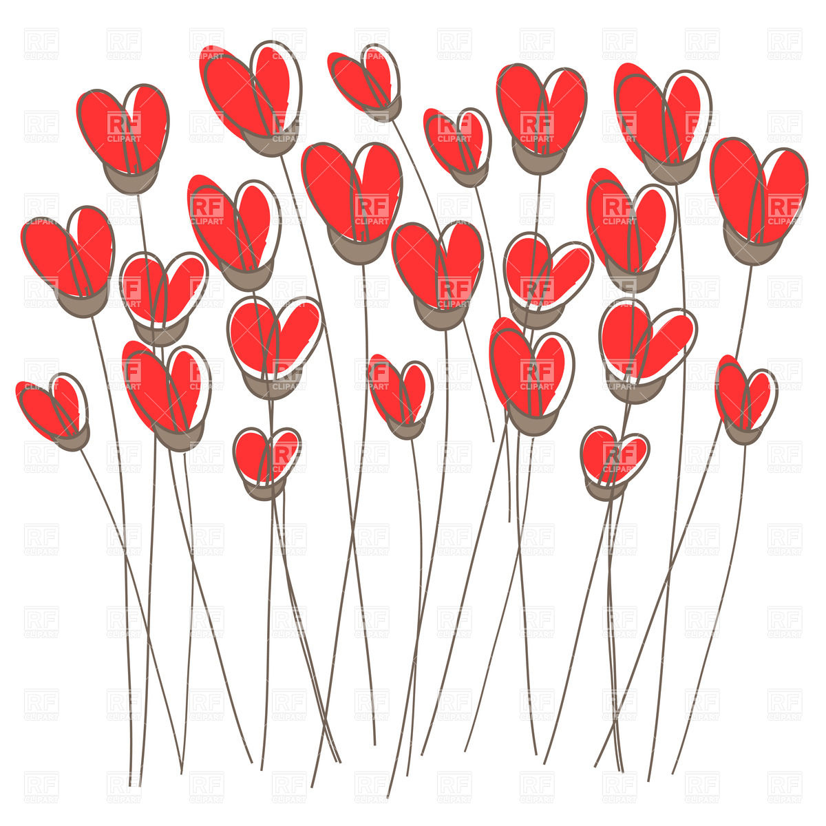 Clipart flowers and hearts library Hearts And Flowers Clipart - Clipart Kid library