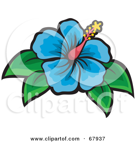 Clipart flowers and leaves png royalty free stock Blue Flowers with Leaves Clip Art – Clipart Free Download png royalty free stock