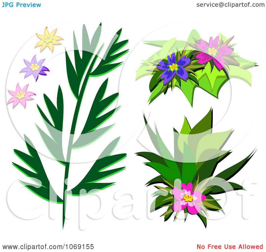 Clipart flowers and leaves banner royalty free download Clipart Hibiscus Flowers And Leaves - Royalty Free Vector ... banner royalty free download