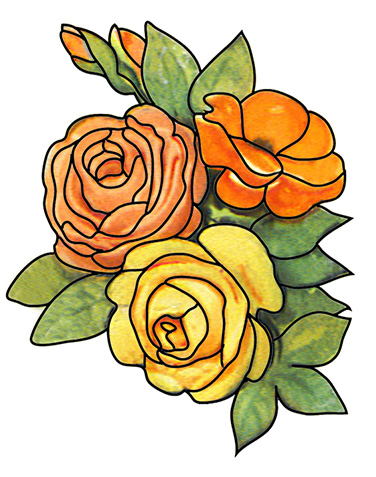 Clipart flowers and leaves banner library library Free Flower Clipart banner library library