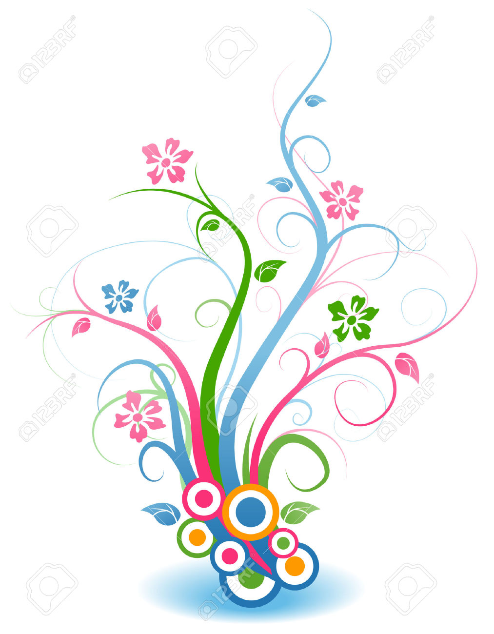 Clipart flowers and vines vector freeuse stock Floral Vines Royalty Free Cliparts, Vectors, And Stock ... vector freeuse stock
