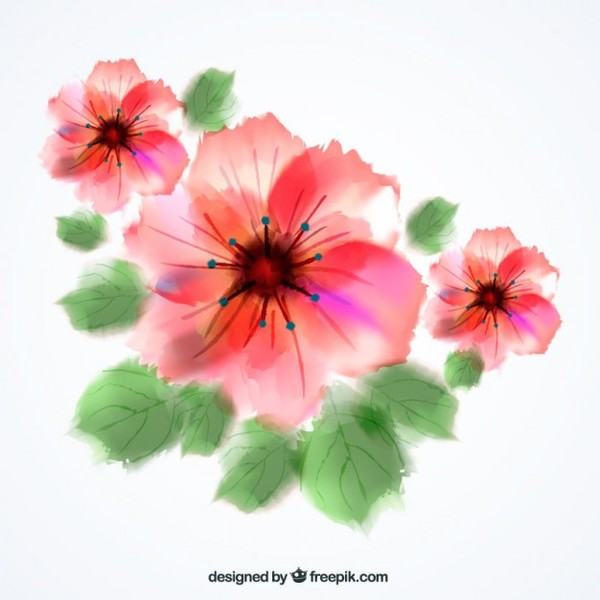 Clipart flowers free download image library stock Floral vector clip art free download - ClipartFest image library stock