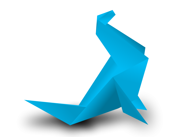Clipart foca clip art stock Free Clipart: Foca origami   dfg clip art stock