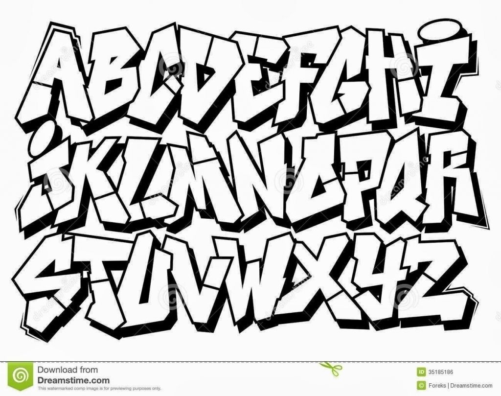 Clipart font generator vector download Bubble Letters Graffiti Style How To Draw Easy Lettering 1024x809 ... vector download