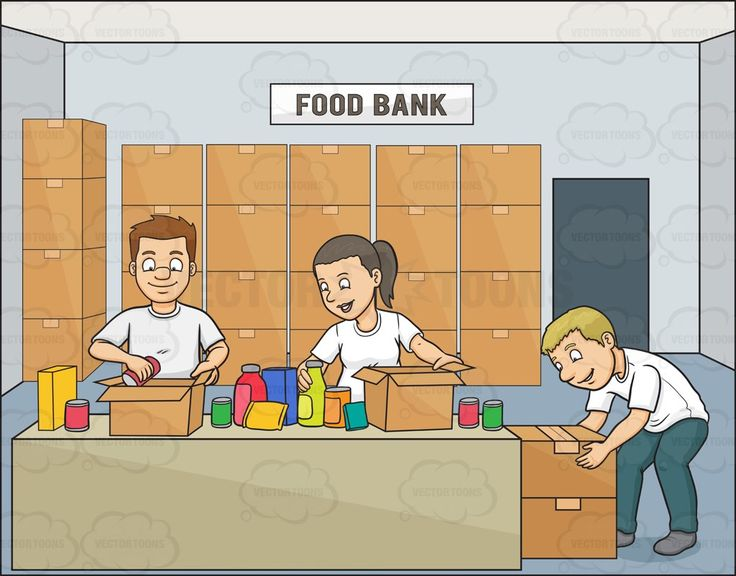Clipart food bank picture download A Male Volunteer Packing Goods For The Food Bank | Products ... picture download
