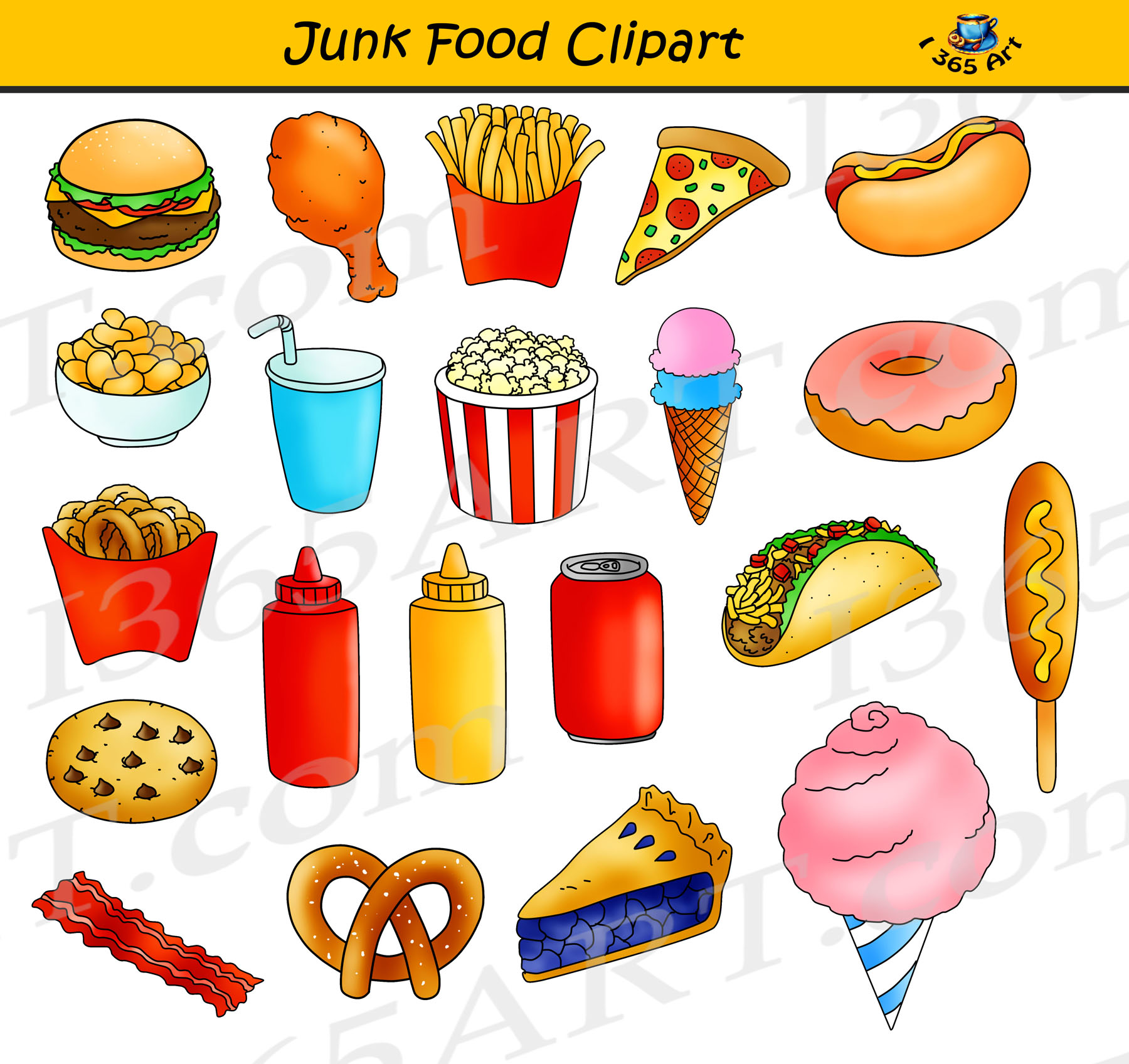 Clipart foood clipart library library Junk Food Clipart, Fast Food Graphics Commercial Use clipart library library