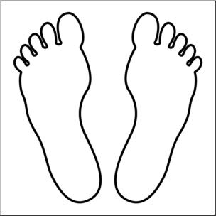 Clipart foot prints clipart library Clip Art: Footprints 01 B&W 2 I abcteach.com | abcteach clipart library