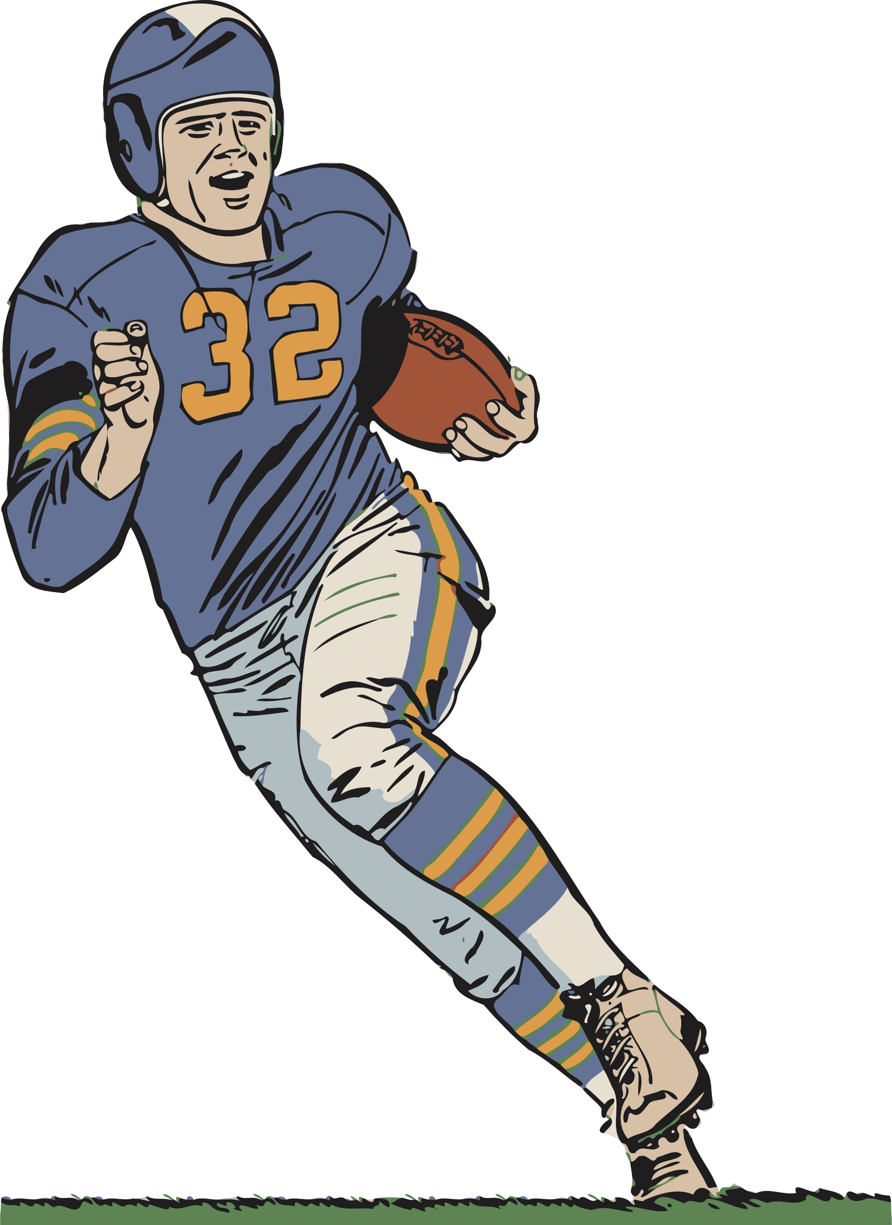 Clipart football player jpg library Clipart - Football player jpg library