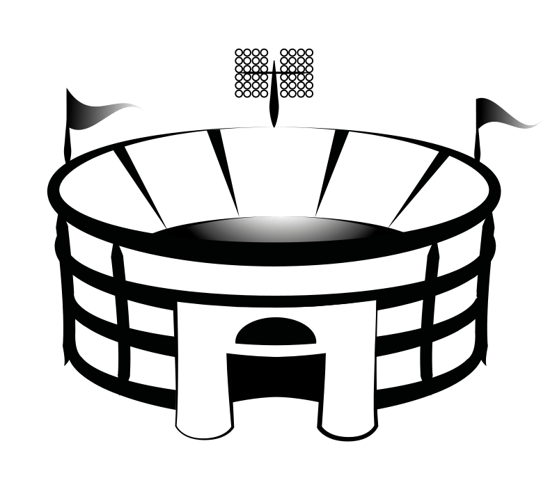 Clipart football field goal png black and white download Football Stadium Cliparts - Cliparts Zone png black and white download