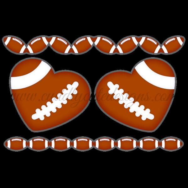 Football clipart borders vector library Sports vector library