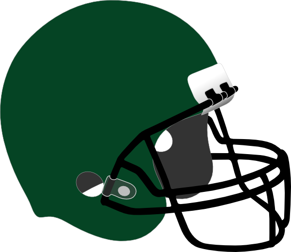 Clipart football helmet transparent library Dark Green Football Helmet Clip Art at Clker.com - vector clip art ... transparent library