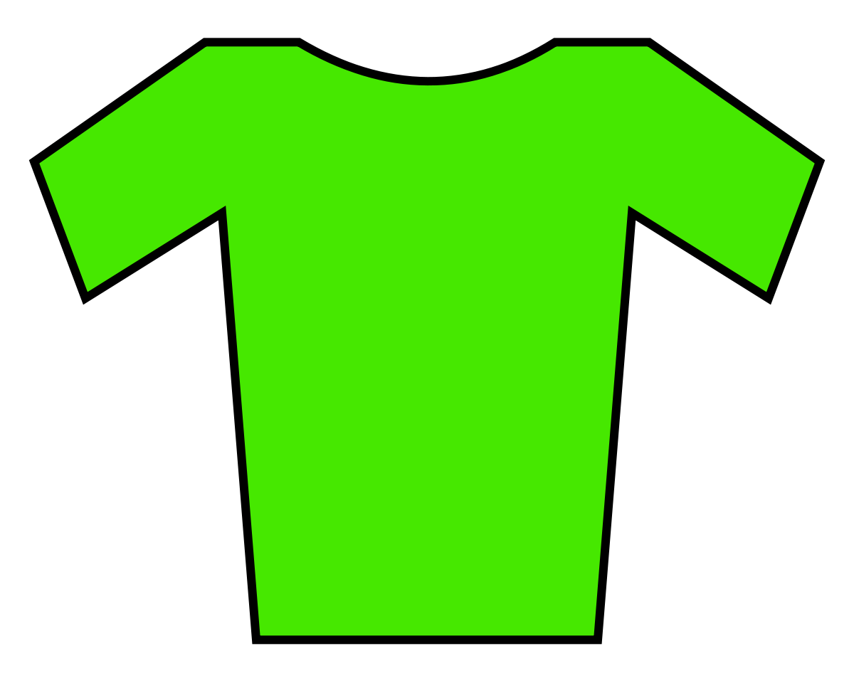 Free football jersey clipart clip freeuse Green jersey - Simple English Wikipedia, the free encyclopedia clip freeuse