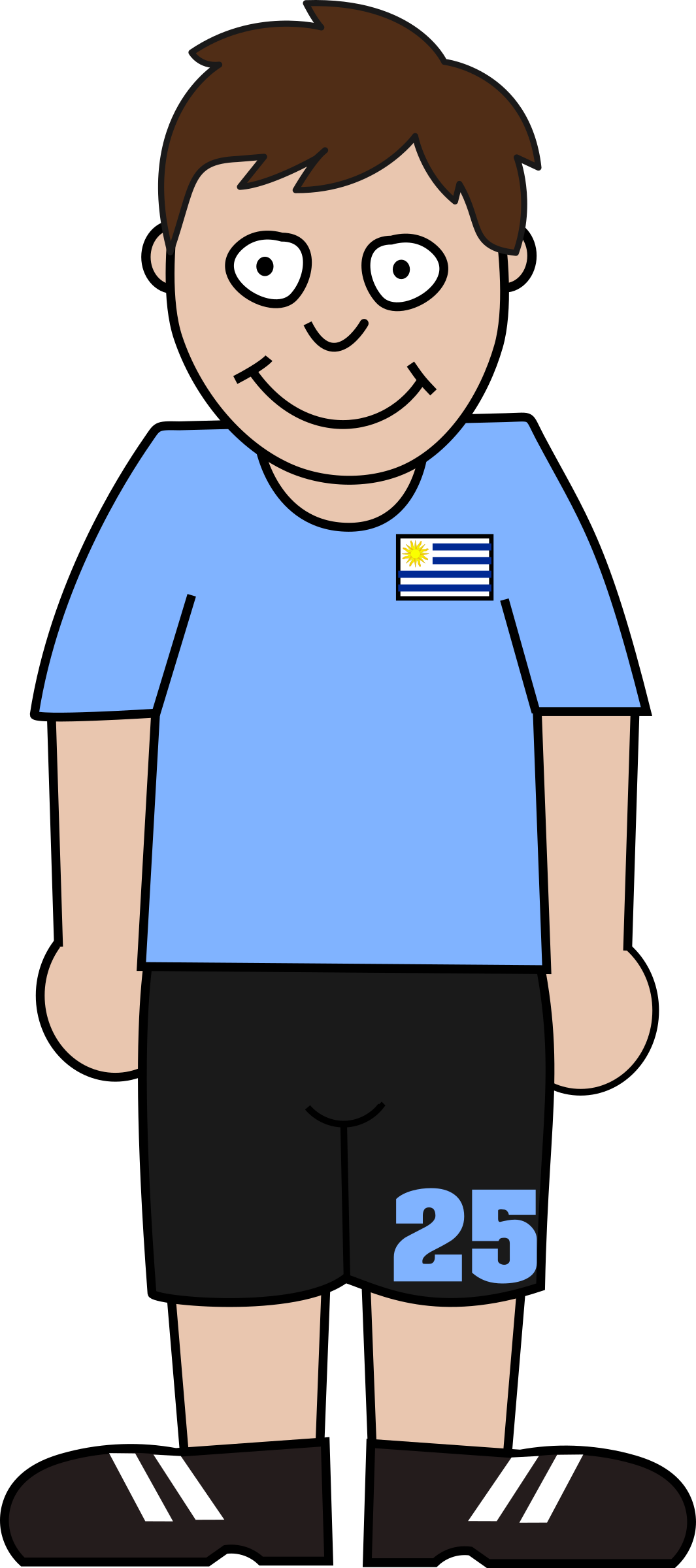 Clipart football player clipart free Clipart - Football player uruguay clipart free