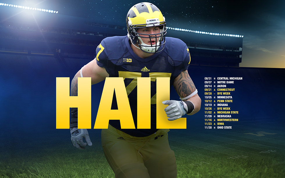 Clipart football schedule clip 980x613px University Of Michigan Iphone Clipart - 2017 Michigan ... clip
