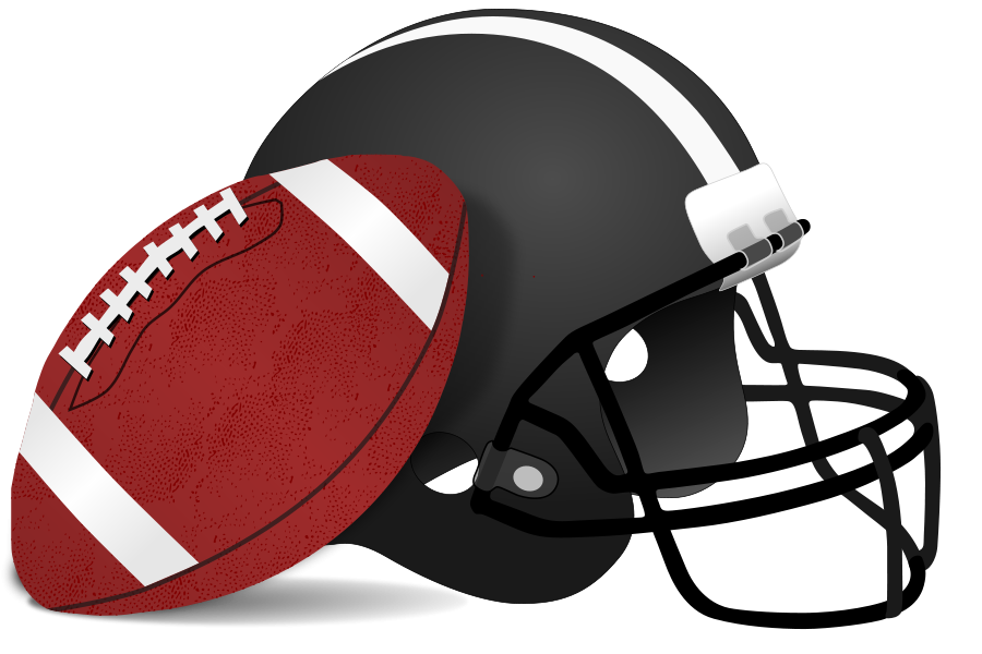 Clipart football schedule vector black and white Football Clipart, vector clip art online, royalty free design ... vector black and white