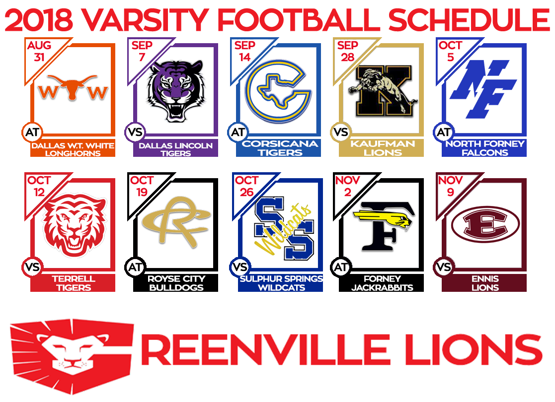 Clipart football schedule image 2018 East Texas Football Schedules - Page 2 - High School Sports ... image