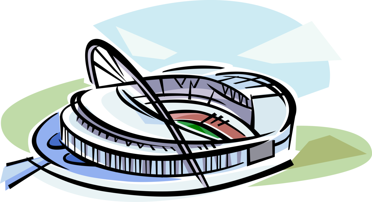 Clipart football stadium graphic transparent download Wembley Football Stadium - Vector Image graphic transparent download
