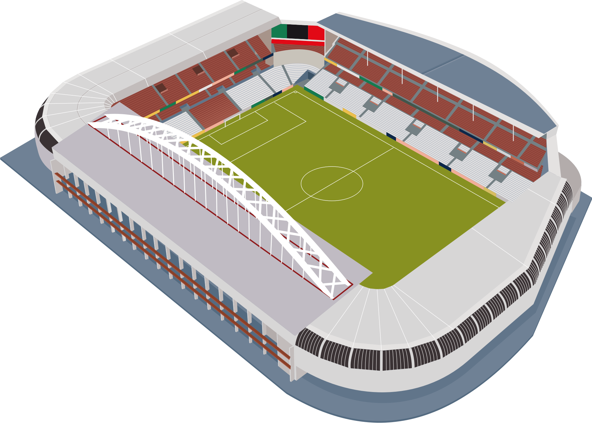 Football pitch clipart download Football Stadium transparent PNG - StickPNG download