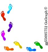Clipart footpriints clipart free library Footprints Clip Art - Royalty Free - GoGraph clipart free library