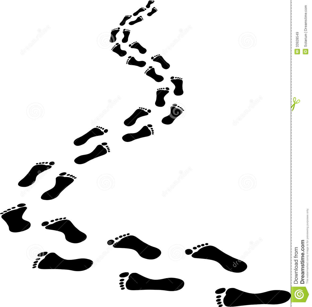 Clipart footprints walking image black and white library Walking Footprints Cliparts | Free download best Walking Footprints ... image black and white library