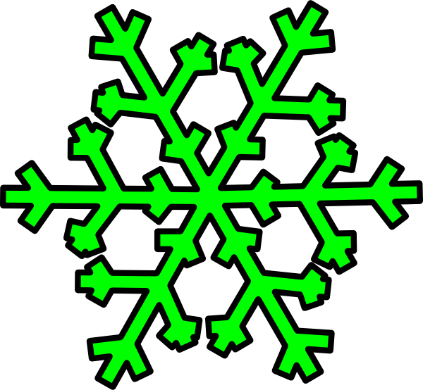 Single snowflake clipart banner library Green Snowflake Clip Art at Clker.com - vector clip art online ... banner library