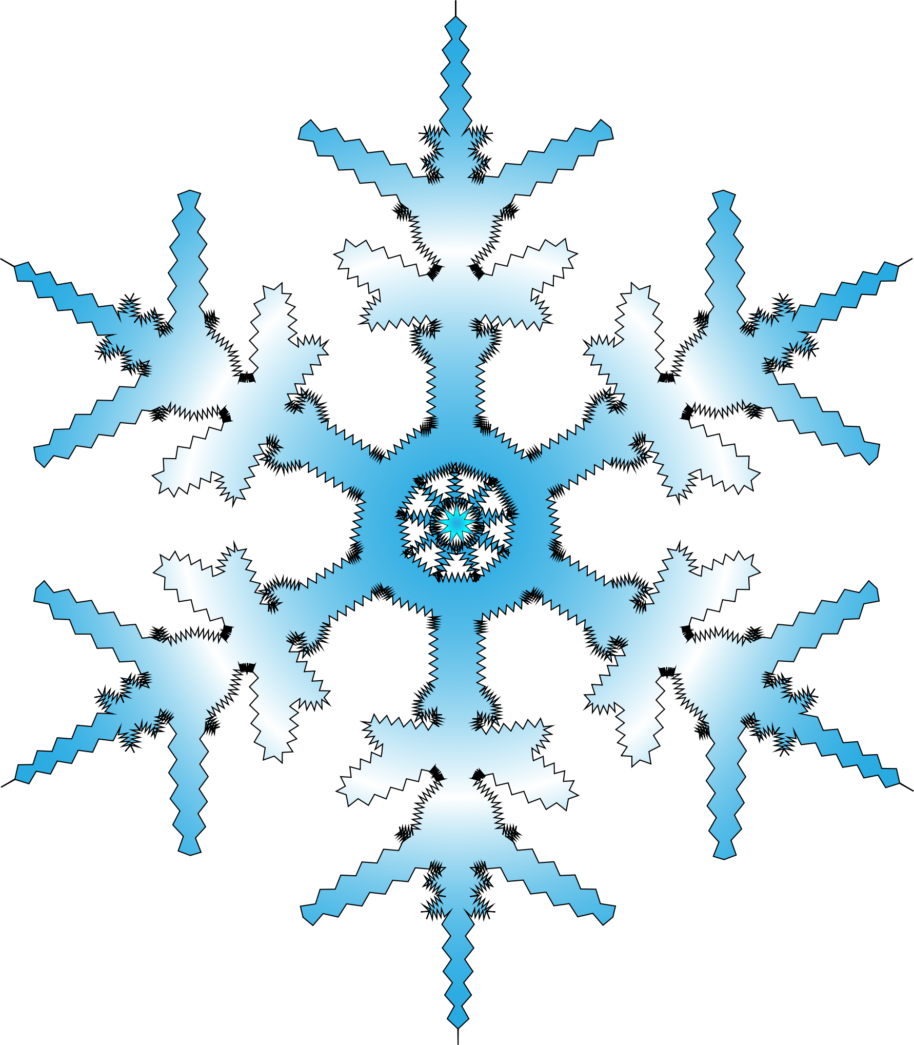 Crystal snowflake clipart vector transparent stock Clipart - Snowflake vector transparent stock