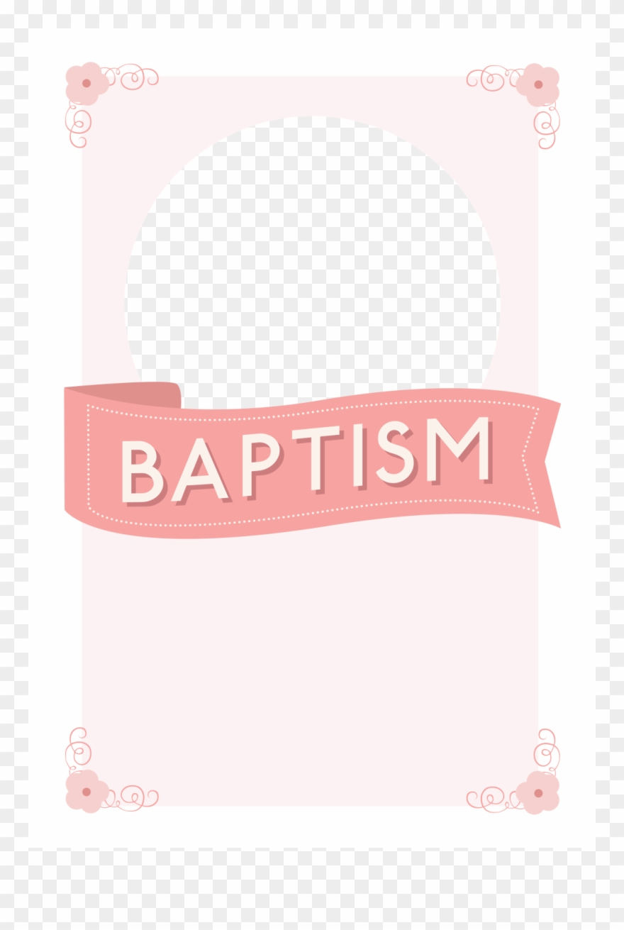 Clipart for baptism invitations jpg black and white library Image Free Pink Ribbon Free Printable - Baptism Invitation Pink ... jpg black and white library