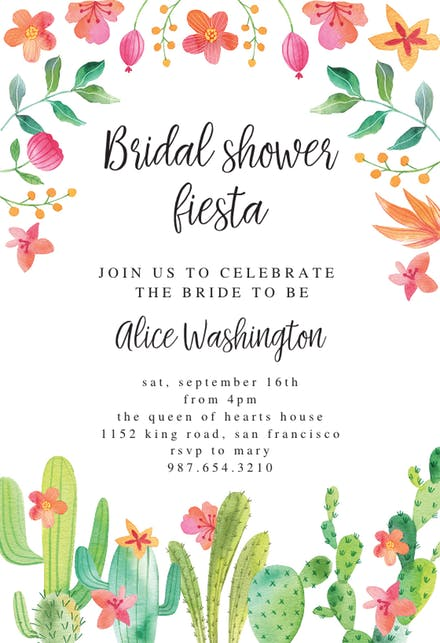 Clipart for bridal shower invitations clip art freeuse stock Bridal Shower Invitation Templates (Free) | Greetings Island clip art freeuse stock