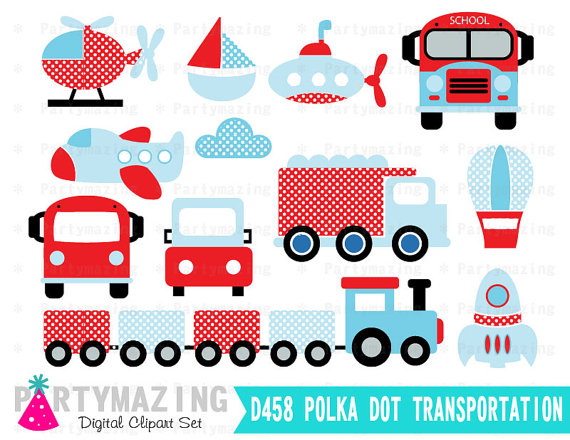 Clipart for business use picture freeuse library Transportation Clipart for Boys (Personal & Small Business Use ... picture freeuse library
