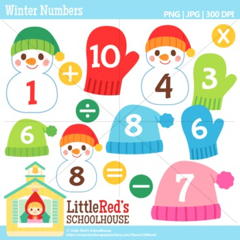 Clipart for business use. Winter math art clip