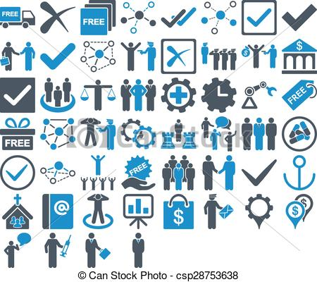 Clipart for business use. Free clipartfest icon set