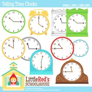 Clipart for business use jpg transparent library Telling Time Clocks Clip Art | A well, Set of and The o'jays jpg transparent library