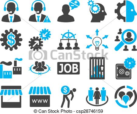 Vector of service management. Clipart for business use