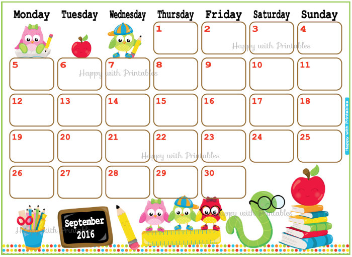 Clipart for calendar for august 2016 picture transparent August 2016 Calendar For Kids | monthly calendar printable picture transparent