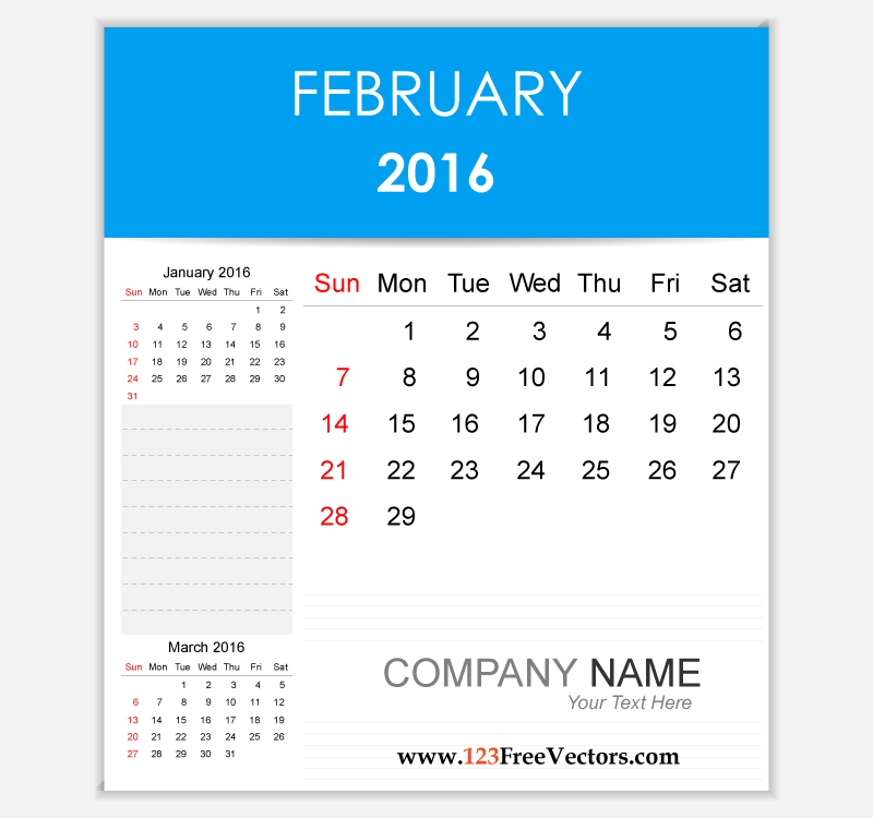 Clipart for calendar front for 2016