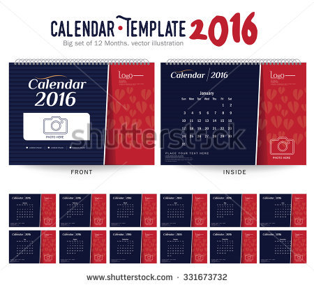 Clipart for calendar front for 2016 clipart transparent stock Photo Calendar Stock Vectors & Vector Clip Art | Shutterstock clipart transparent stock