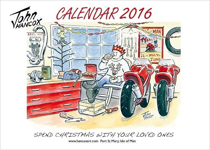 Clipart for calendar front for 2016 svg freeuse download Motorcycle Cartoon Calendar 2016 – Hancox Art svg freeuse download