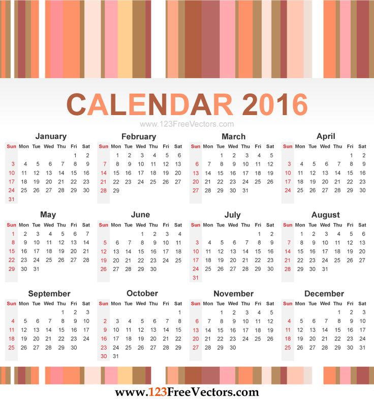 Clipart for calendar front for 2016 clipart transparent download Clipart for calendar front for 2016 - ClipartFest clipart transparent download