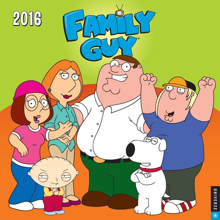 Clipart for calendar front for 2016 clip art freeuse Family Guy 2016 Wall Calendar clip art freeuse