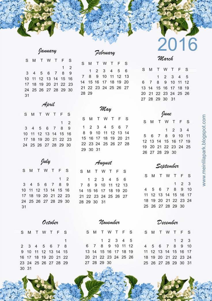 Clipart for calendar front for 2016 png library download 17 Best images about FREE printable 2017 + 2016 calendars on ... png library download