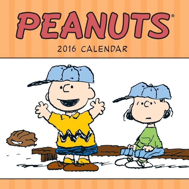 Clipart for calendar front for 2016 clip art transparent stock Peanuts 2016 Mini Wall Calendar clip art transparent stock