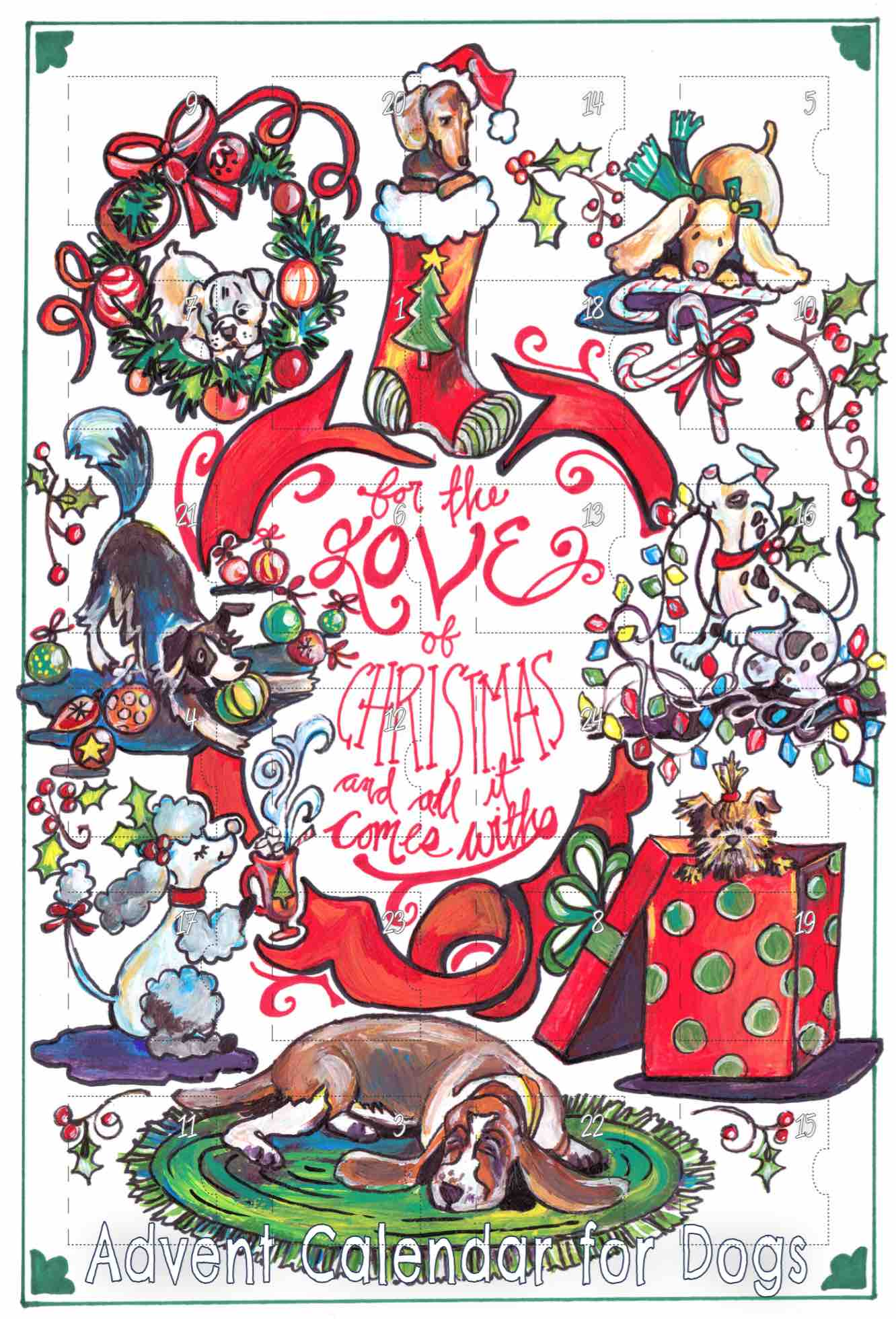 Clipart for calendar front for 2016 picture stock Advent Calendar for Dogs - Gingerpaws Pets - For the Love of Christmas picture stock
