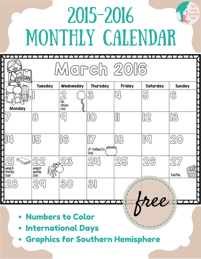 Clipart for calendar front for 2016 freeuse stock Clipart for calendar front for 2016 - ClipartFest freeuse stock