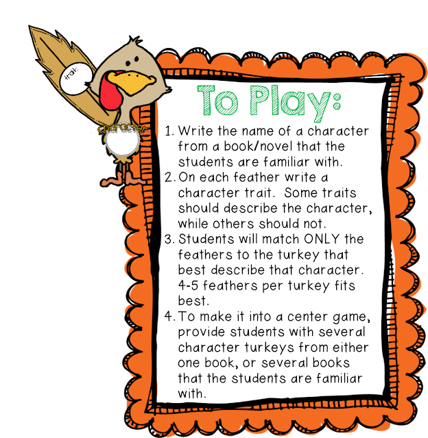 Clipart for character traits clipart freeuse The Classroom Game Nook: Four {FREE!} Thanksgiving Games + a ... clipart freeuse