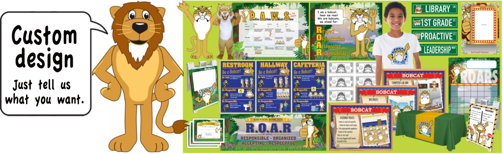 Clipart for character traits banner library download Lion Mascot For PBIS Schools & Character Trait Education banner library download