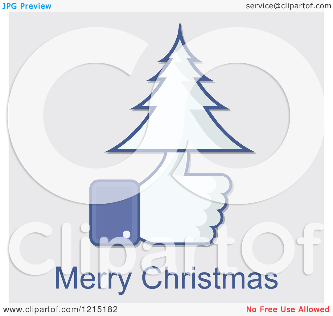 Clipart for christmas eve facebook clip art black and white download Clipart of a Merry Christmas Greeting and Facebook Thumb up with a ... clip art black and white download