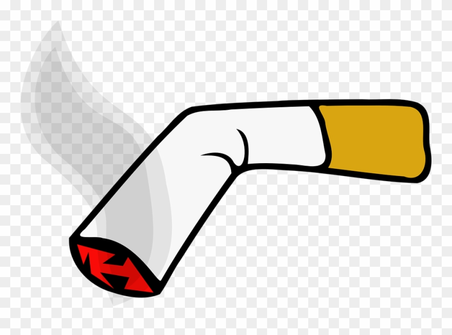 Cigarette clipart vector black and white stock Cigarette Clipart - Cigarette Clip Art - Png Download (#54319 ... vector black and white stock
