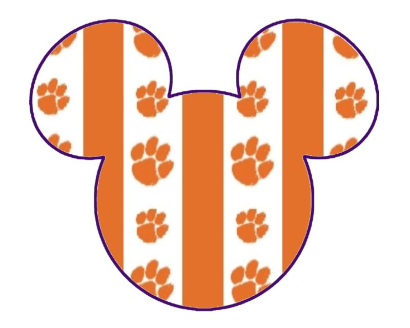 Clipart for clemson university jpg black and white Free Clemson Tiger Paw Stencil, Download Free Clip Art, Free Clip ... jpg black and white