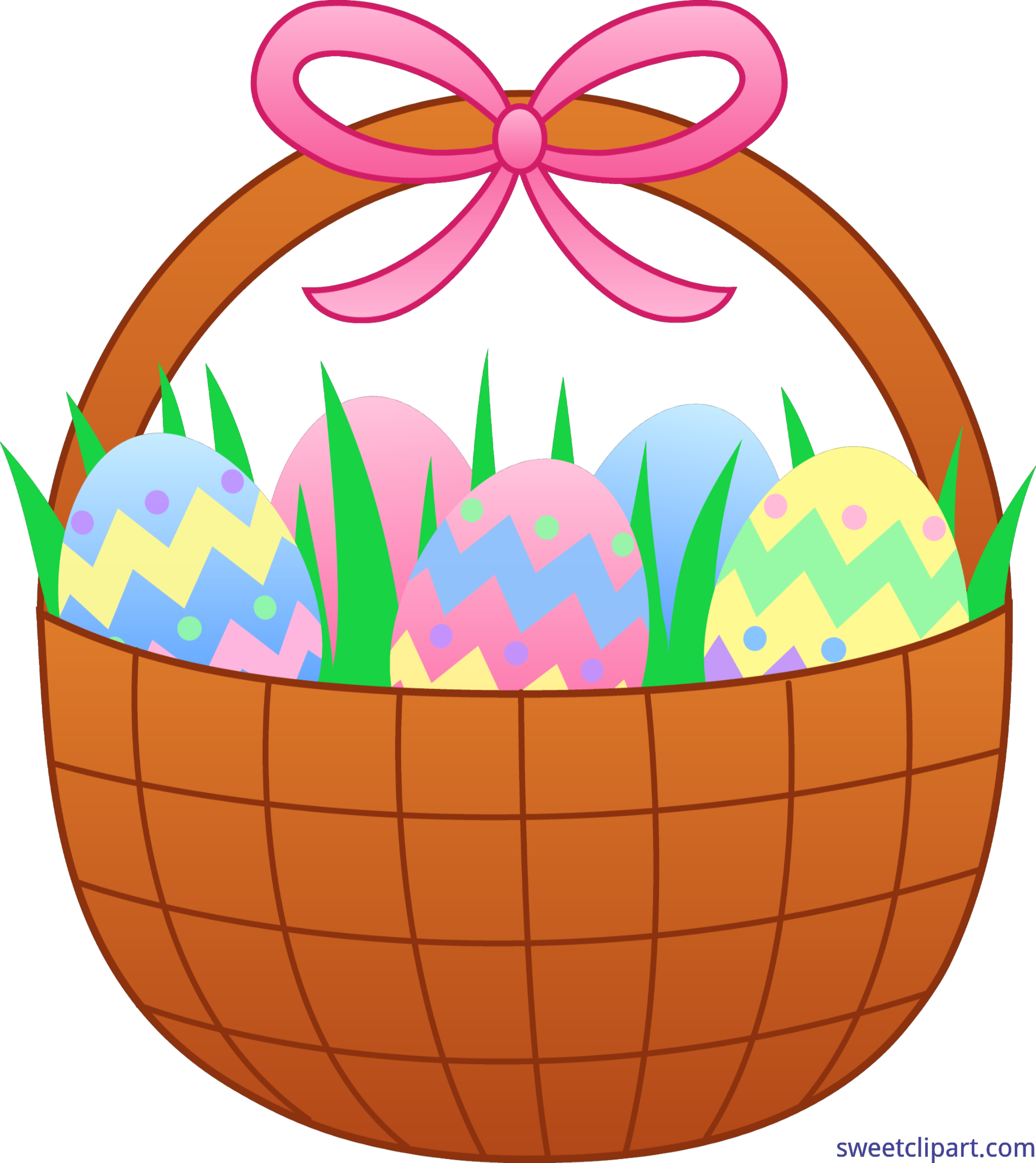 Easter egg clip art border clip art royalty free Cute Easter Basket With Eggs Clip Art - Sweet Clip Art clip art royalty free