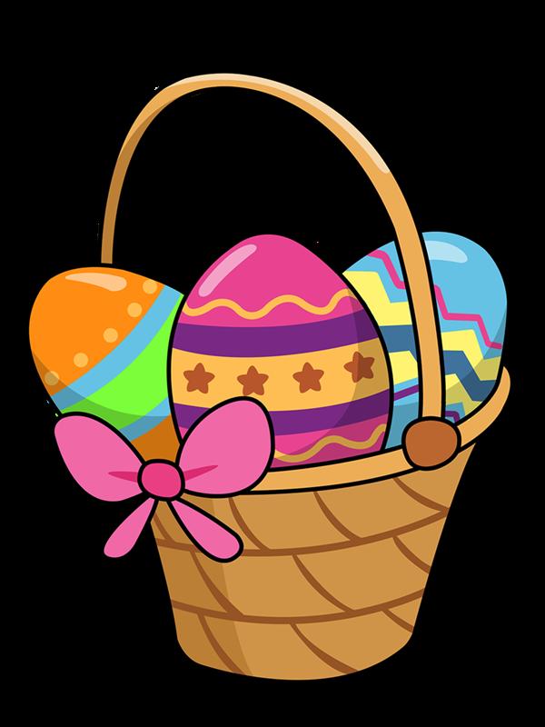 Kids easter basket clipart svg library stock Easter baskets clip art image #10029 | Clipart | Pinterest | Easter ... svg library stock